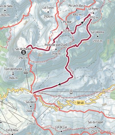 Karte / Anello del Piz Boè
