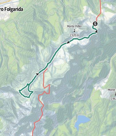 Cartina / Malga Tassullo - Bivacco Costanzi -  Passo Prà Castron