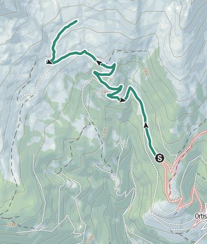 Cartina / Ortisè – Malga Pozze