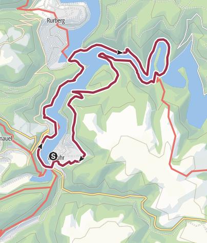 Karte / Partnerweg des Eifelsteigs - Wasserlandroute