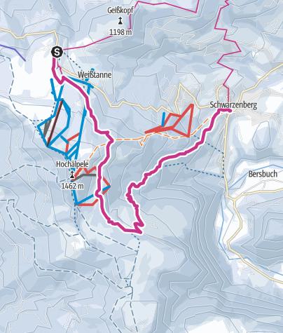 Map / Schwarzenberg   Panorama hike Bödele - Schwarzenberg