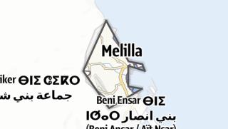 Map / Ciudad Autónoma de Melilla