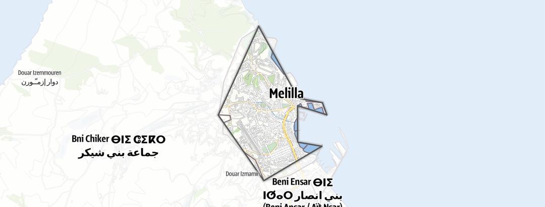 Kartta / Ciudad Autónoma de Melilla