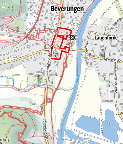Karte / Stadtspaziergang -  Auf den Spuren des Bibers