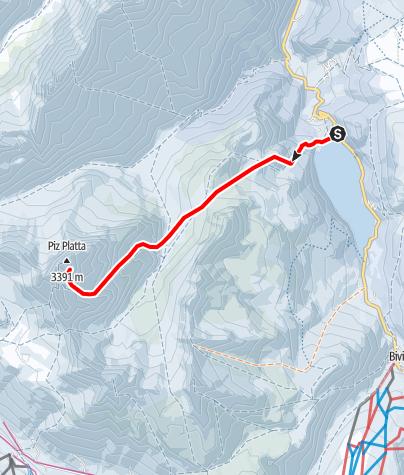 Map / Piz Platta  3392 m ü.M.