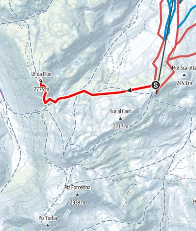 Map / Auf den Flühen 2774 m ü.M.