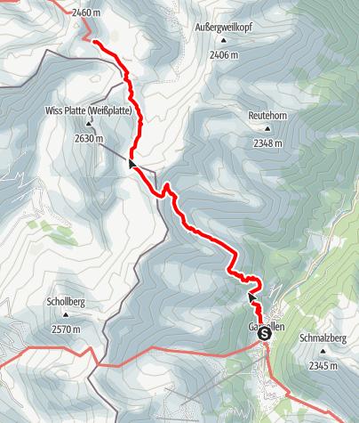 Karte / Montafoner Hüttenrunde -  Gargellen zur Tilisunahütte