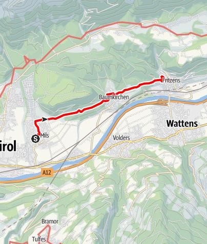Karte / Mils - Baumkirchen - Fritzens