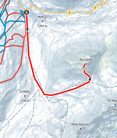 Karte / Roccabella 2730 m ü.M.