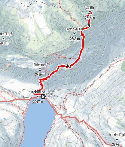 Karte / Vallüla (2813 m)