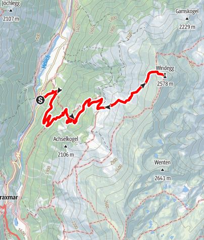 Karte / Fotscher Windegg über Juifenalm