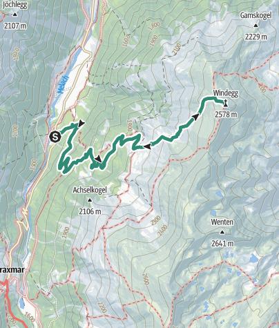 Map / Fotscher Windegg über Juifenalm