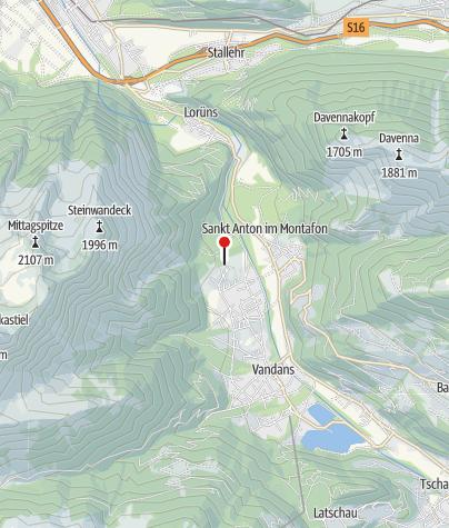 Karte / Blick auf St. Anton