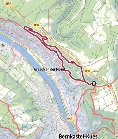Karte / Ferienland-Wanderweg - Himmelreich-Wanderweg - Graacher Schäferei