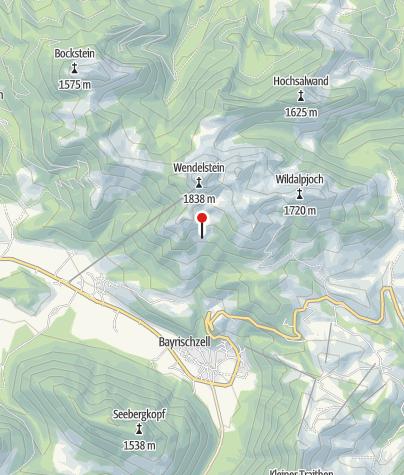 Karte / Siglhütte (1334m) - DAV Sektion Oberland