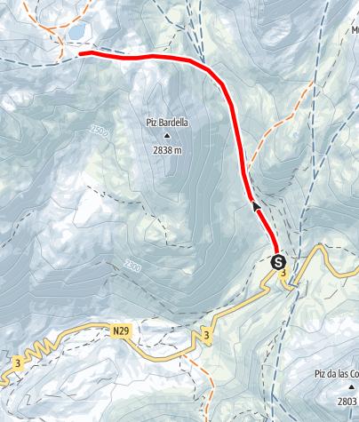 Karte / Fuorcla digl Leget 2711 m ü.M.