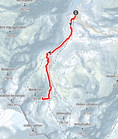 Map / Saarbrückner Hütte (2.538 m)