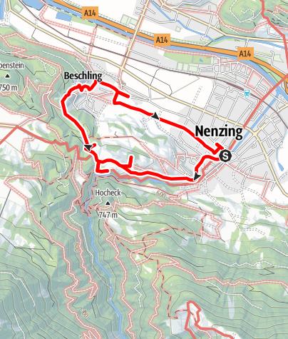 Karte / Nenzing Kulturweg