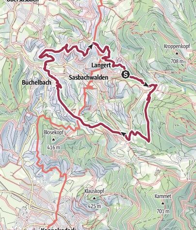 Karte / Genießerpfad - Alde Gott Panoramarunde (Premiumweg)