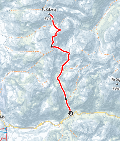 Karte / Piz Calderas 3397 m ü.M.