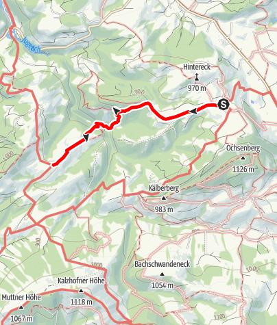 Karte / Aigis-Königsalpe-Aigis