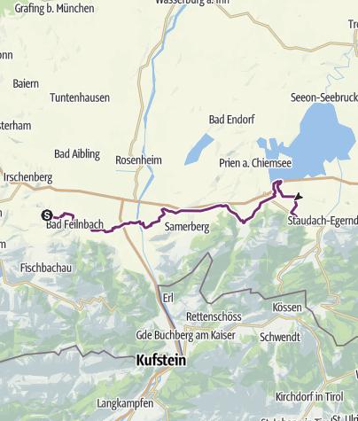 Bodensee Konigssee Radweg Von Au Bei Bad Aibling Bis Grassau