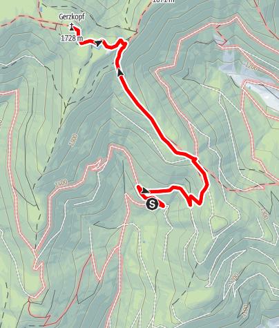 """Karte / """"Sagenhafte"""" Wanderung zur schwarzen Lacke und auf den Gerzkopf."""