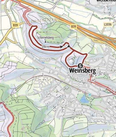 Karte / WT7 Wein- und Rosenrundweg Weinsberg