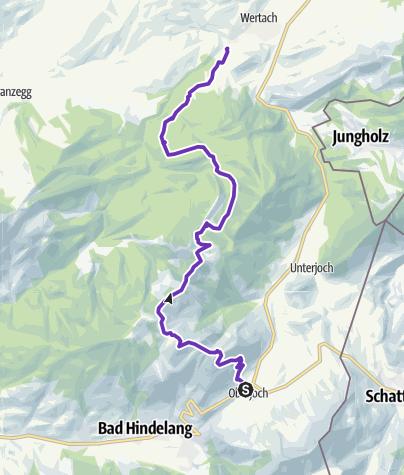 Karte / Über Ornach, Spieser und Wertacher Hörnle nach Wertach
