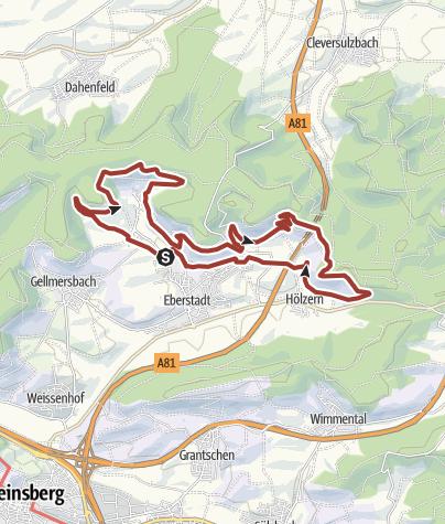 Karte / WT8 Wengertschleife Eberstadt