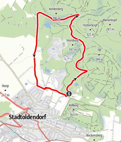 Karte / Um den Großen Homburg (St 6)