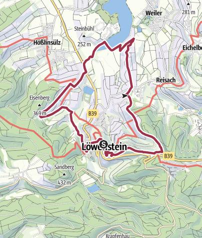 Karte / WT11 Weinbergtour Löwenstein