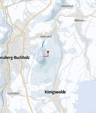 """Karte / Annaberg-Buchholz - Skilift """"Auf der Kreherwiese"""""""