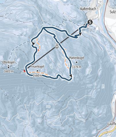 Karte / Über den Windengraben zur Katrinalm