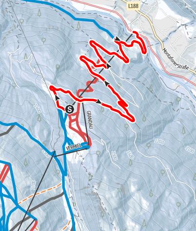 Karte / Nachtrodelbahn - Garfrescha (Di, Do, Sa geöffnet)