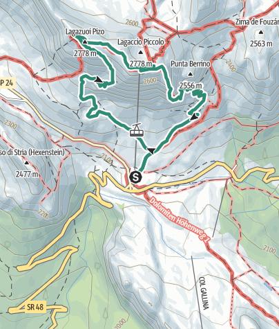 Karte / Lagazuoi - Kaiserjägerweg-und-Stollen-Runde