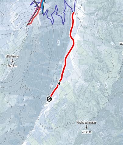Karte / Pinnisalm bis Issenangeralm