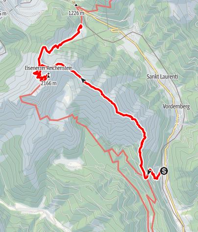Karte / Reichenstein (2.143m) über Grete-Klinger-Steig