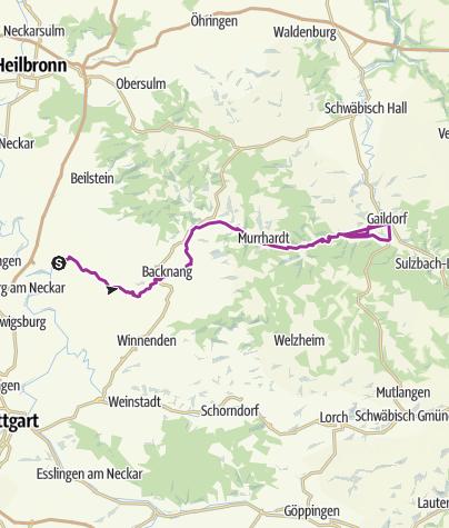 Neckarradweg Karte.Murrtal Radweg Radtour Outdooractive Com