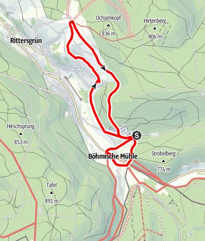 Karte / Kräuter- und Landwirtschaftspfad Rittersgrün