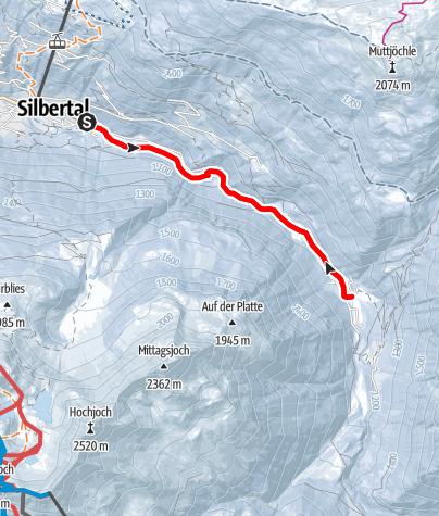 Karte / Silbertal (Felsa) zum Alpengasthaus Fellimännle