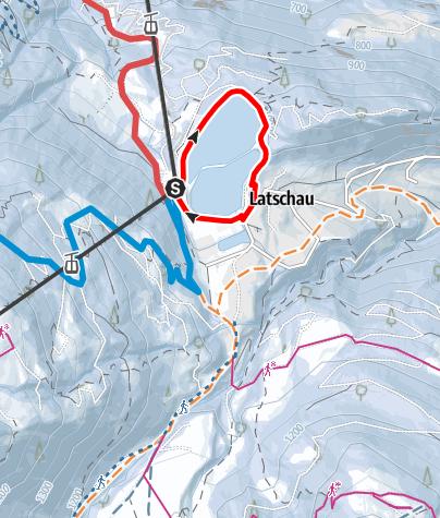 Karte / Staubecken Runde Latschau