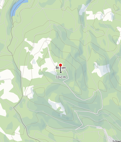 Map / Enigmatic Brocken: Meeting point of witches and spies