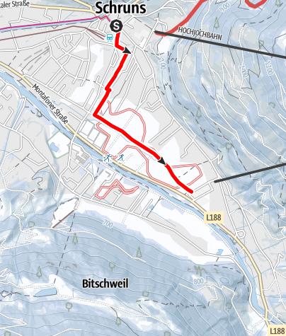 Karte / Schrunser Feld Runde