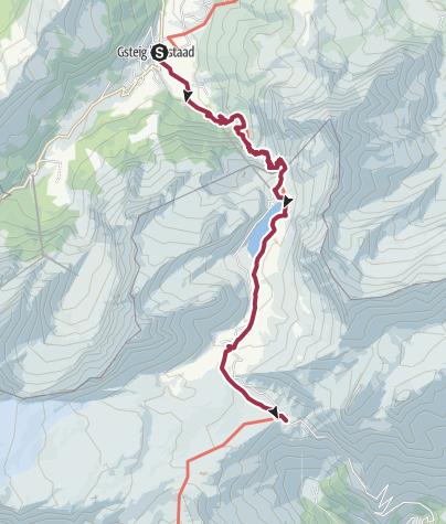 Karte / Über den Sanetschpass ins Wallis