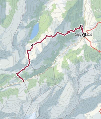 Karte / Alpwanderung hoch über dem Arnesee