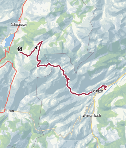Map / Kaisereggpass - schroffe Grate, liebliche Bergseelein