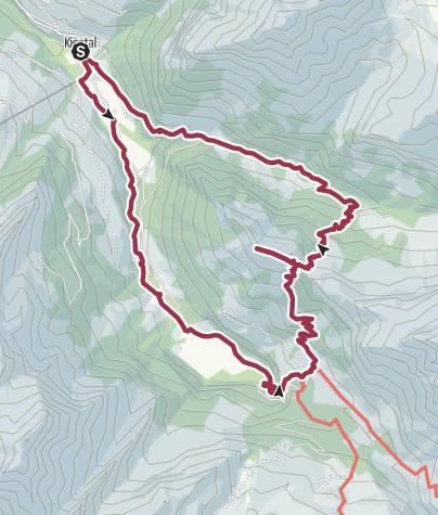 Karte / Zu Wildwassern und Fernsicht