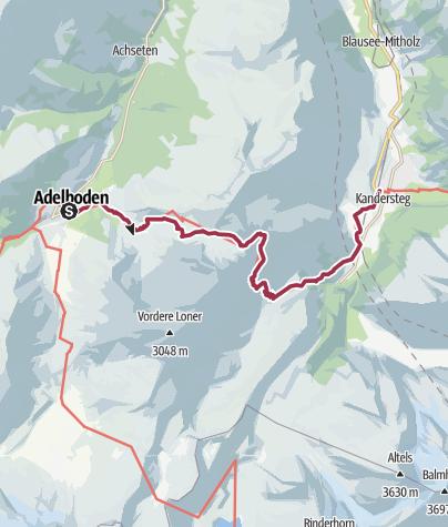 Map / Bergerlebnis Bunderchrinde
