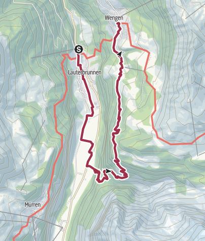 Karte / Am wilden Trümmelbach